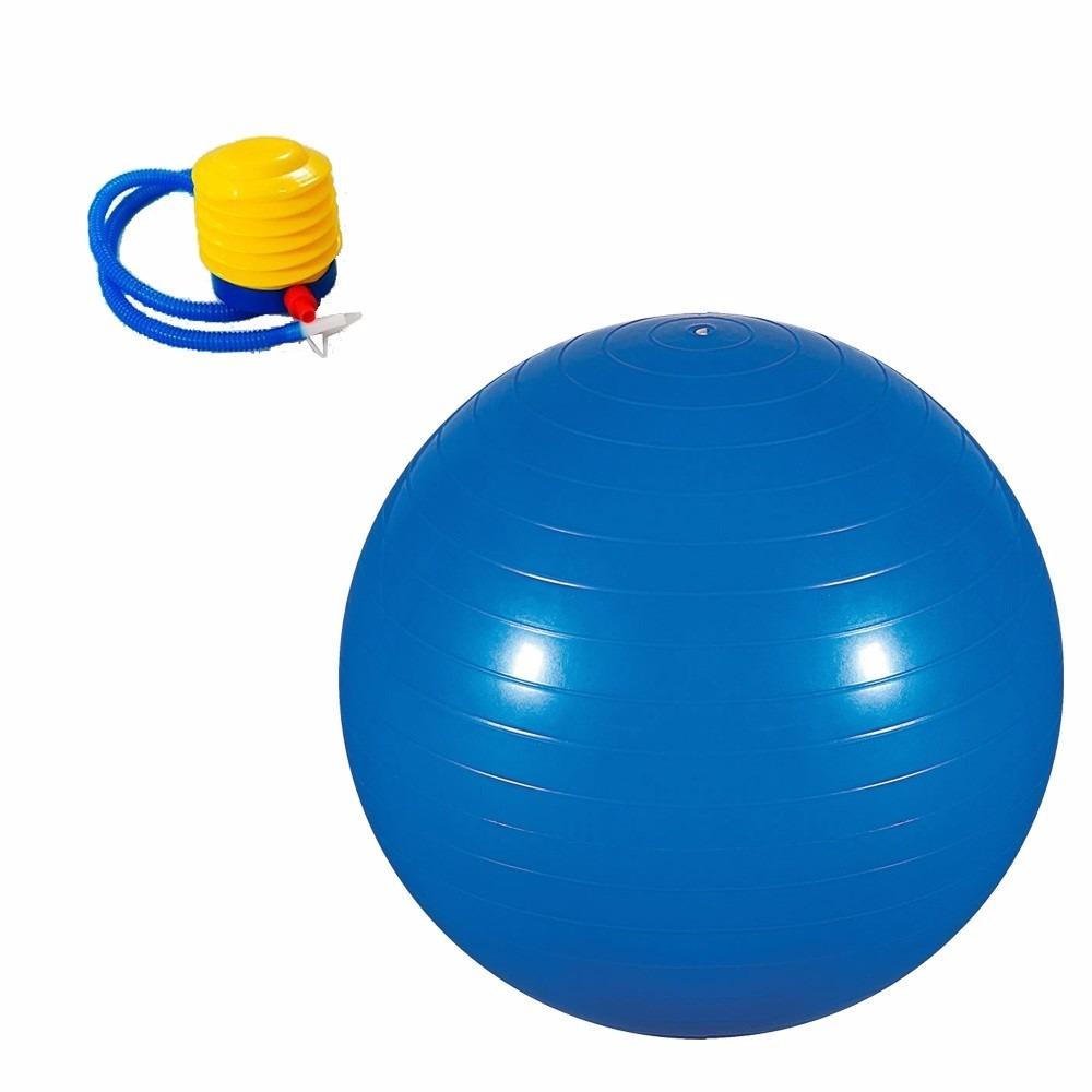 bola pilates yoga suiça ginástica fitness 75 cm bomba grátis. Carregando  zoom. d20d009521cc1