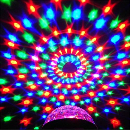 bola rgb audiorritmica led crystal magic ball parlante dj