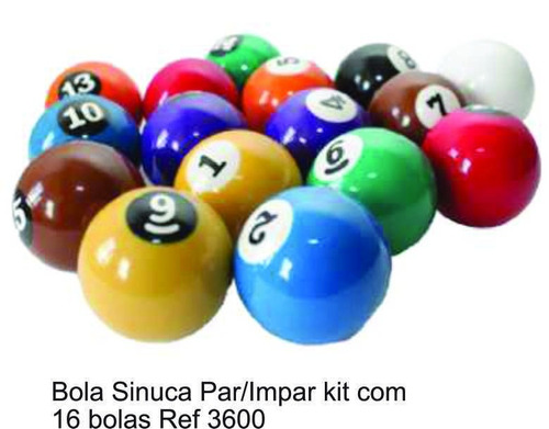 bola sinuca par/impar kit com 16 bolas
