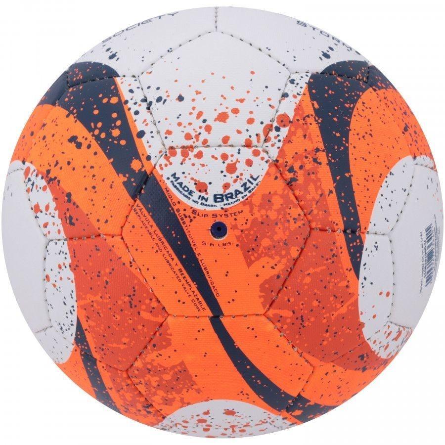 98dd84608e939 bola society penalty storm c/c vii branco/laranja/azul. Carregando zoom.