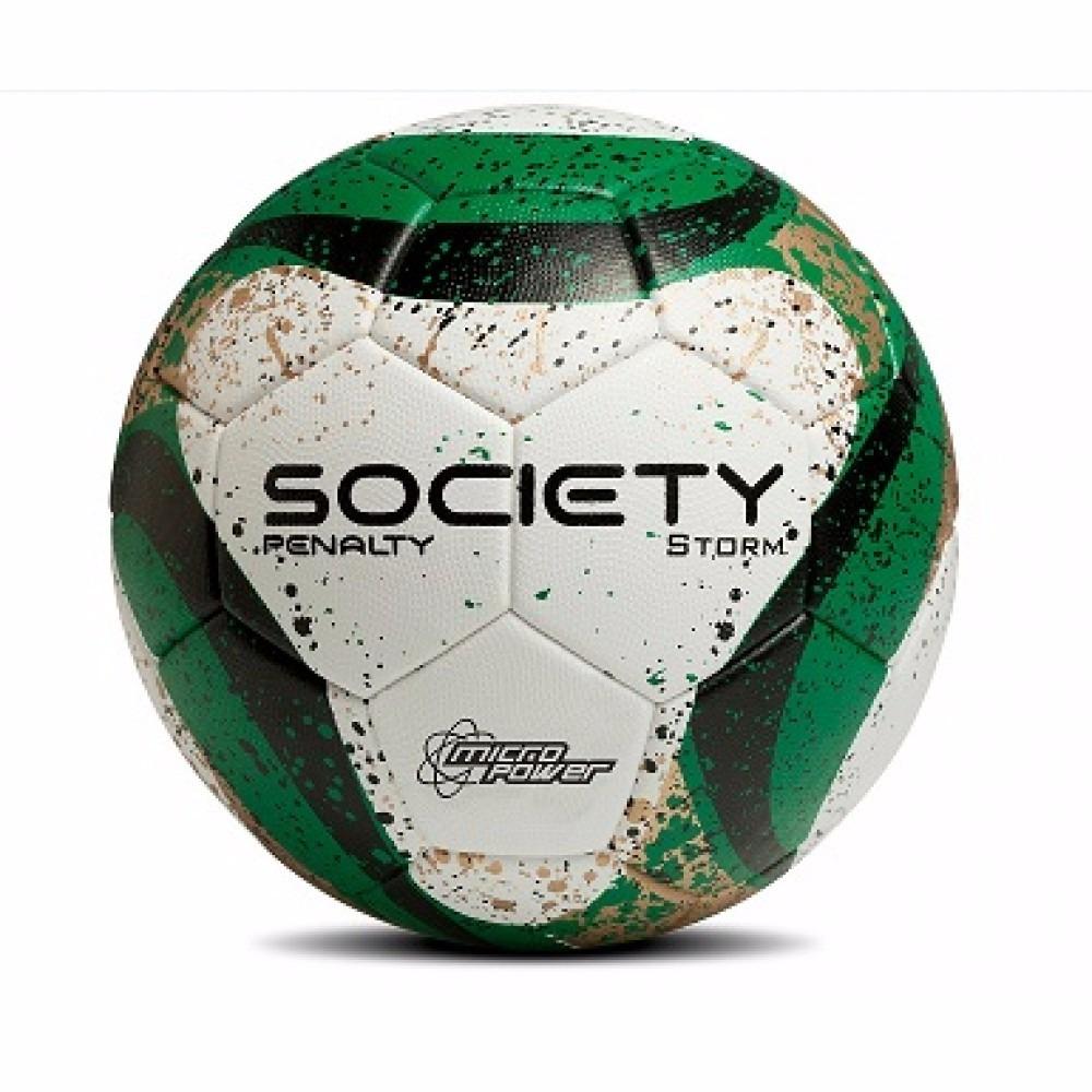 f4d8bbede1 bola society penalty storm costurada branca com verde. Carregando zoom.