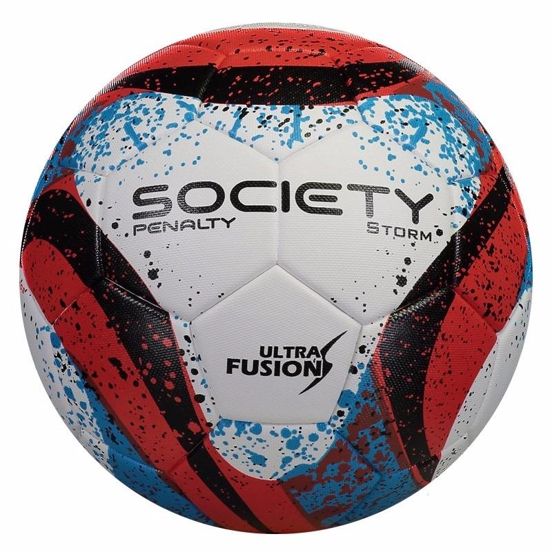 477988af0f bola society penalty storm costurada branca com vermelho. Carregando zoom.