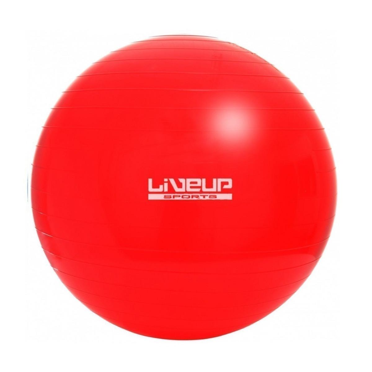 bola suiça 45 cm liveup vermelha para pilates yoga. Carregando zoom. 668f413b8be61