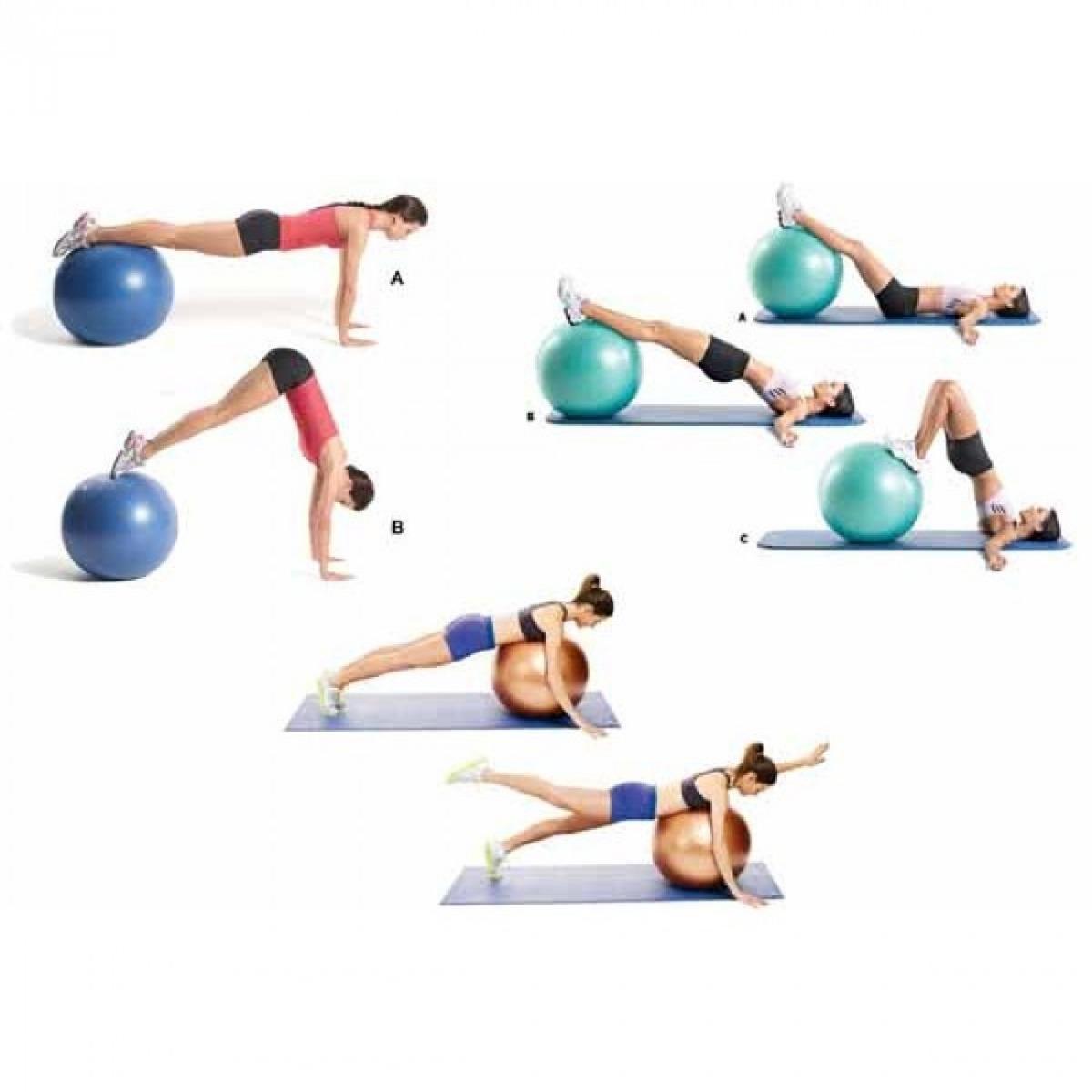 0ee8184a69 bola suiça 55 cm premium azul c  bomba liveup yoga pilates. Carregando zoom.