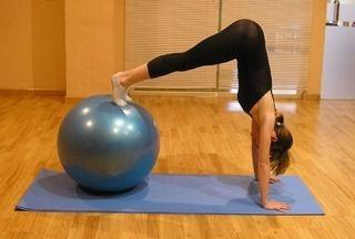 Bola Suíça Bomba Pilates 85cm Liveup Antiestouro Yoga 300 Kg - R  69 ... d60092151014a