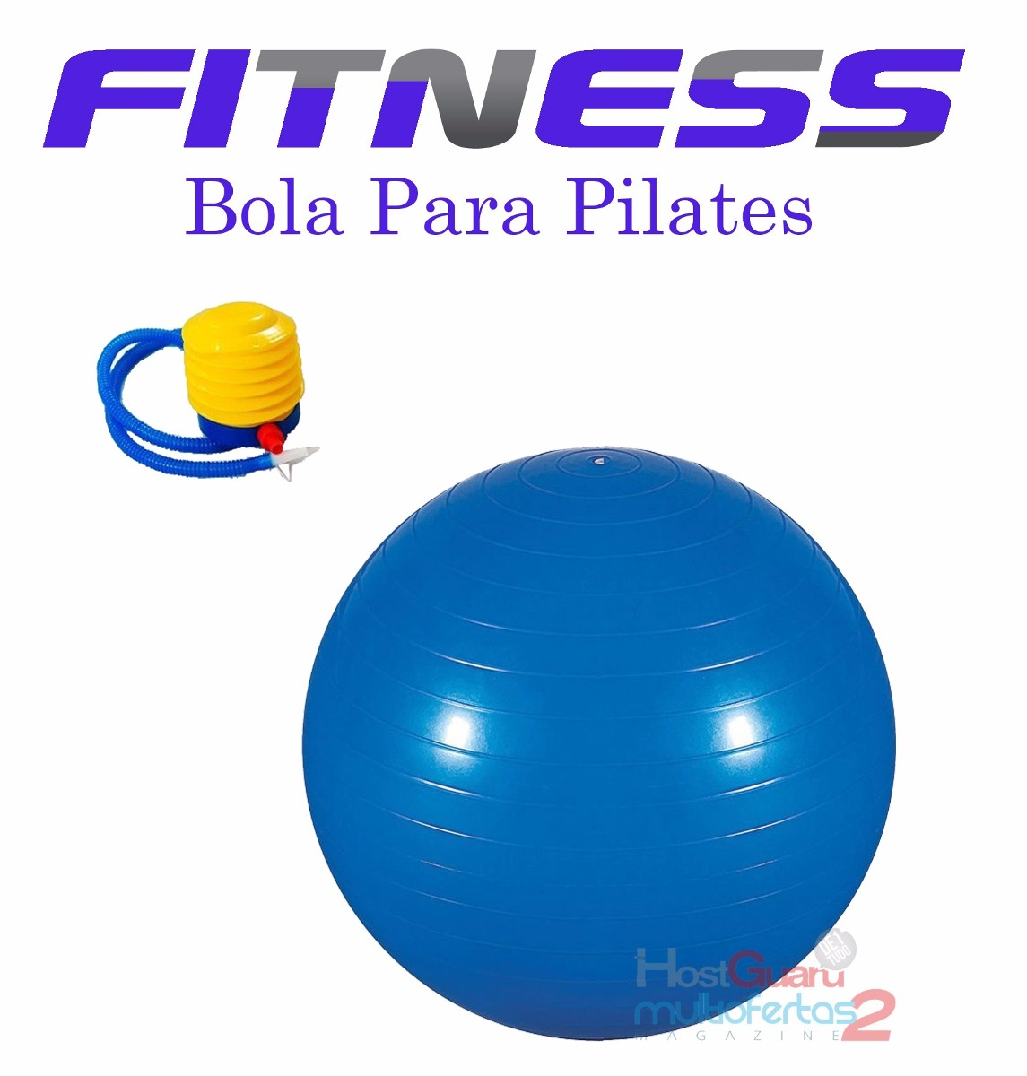 bola suiça para pilates fisioterapia e abdominal 65cm - azul. Carregando  zoom. 64c7d4dda609e