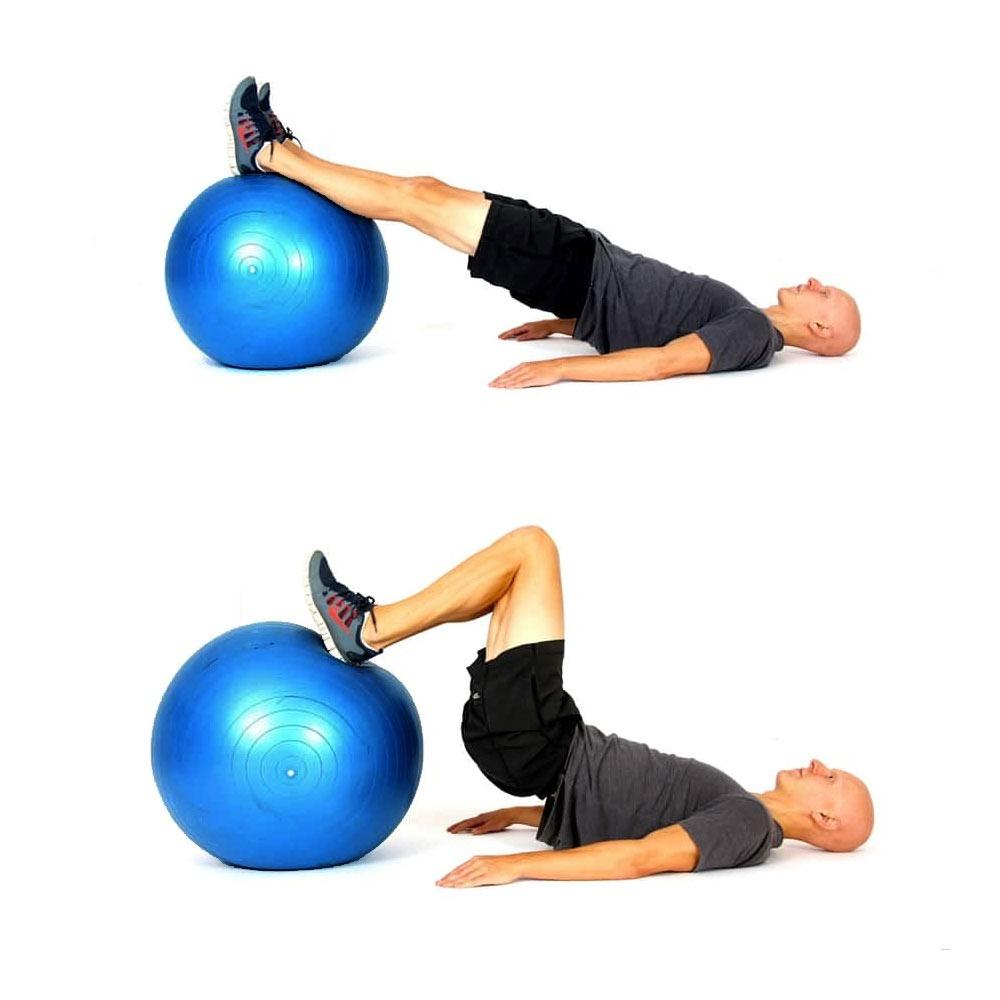 bola suiça pilates 65cm bomba gratis yoga abdominais 150kg. Carregando zoom. 4f98465c9e532