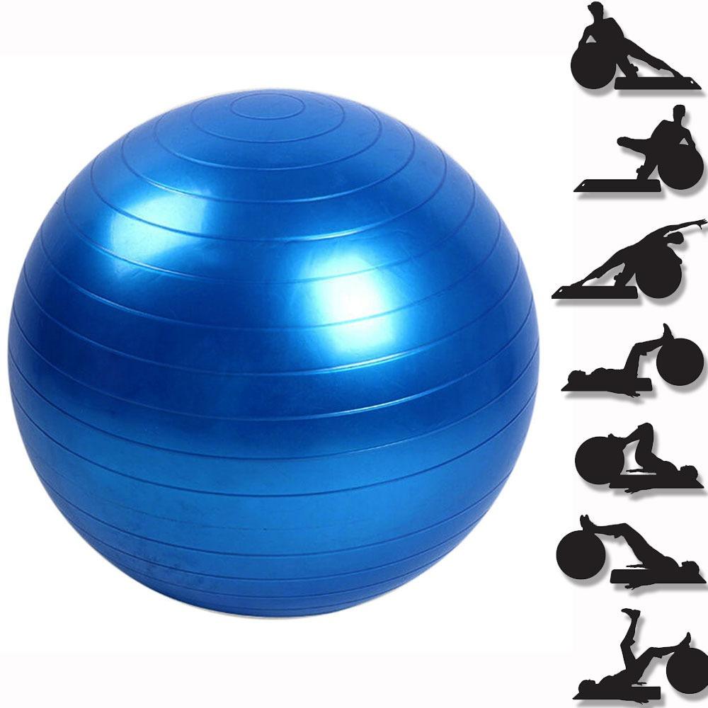 bola suiça pilates 65cm com bomba yoga abdominais 150kg. Carregando zoom. a696d1baacd59