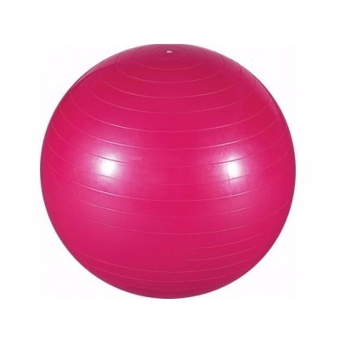 Bola Suiça Pilates Fisioterapia Fitness Yoga Rosa C  Bomba! - R  42 ... b05d9654851a6