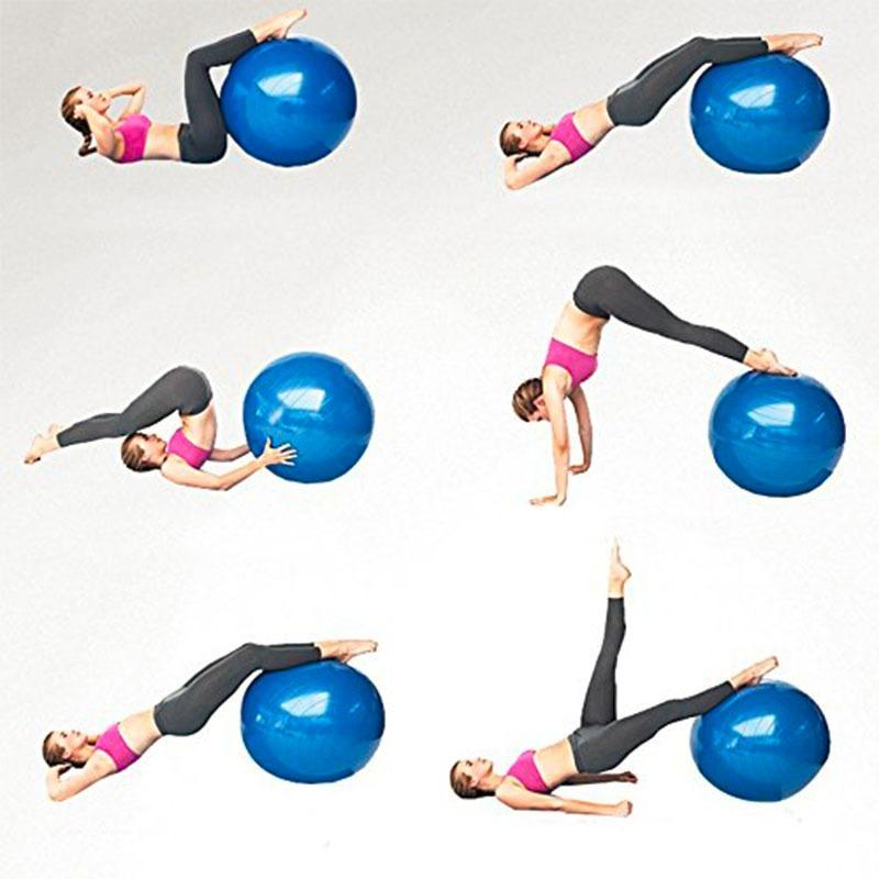 bola suiça pilates yoga 55cm c bomba grátis treino funcional. Carregando  zoom. ab347a0e84e46