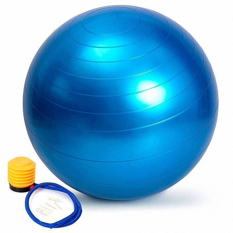 bola suiça pilates yoga 55cm c bomba grátis treino funcional. Carregando  zoom. 47c2177e3747e