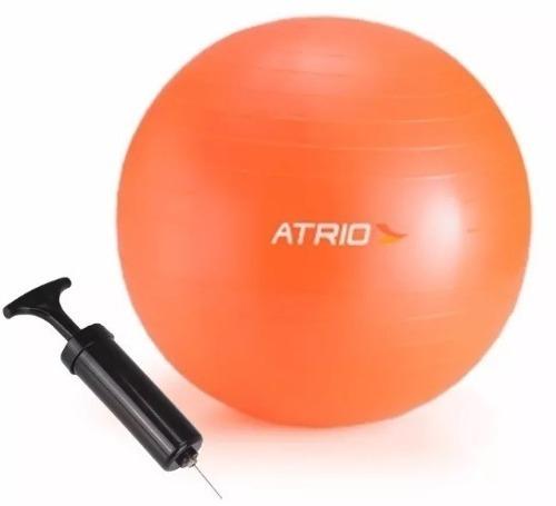 Bola Suiça Pilates Yoga 65cm C bomba Grátis Treino Funcional - R  85 ... adb192384977e