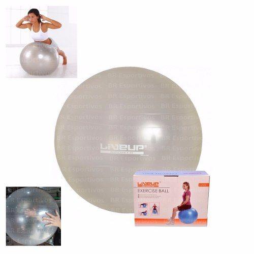 Bola Suíça Transparente 65cm Pilates Liveup Yoga Antiestouro - R  58 ... 0759ecedc47ed