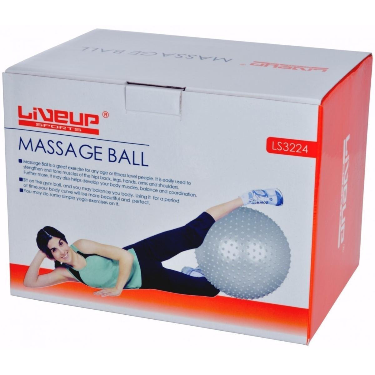 5af25b95a5 bola tipo massagem espinhos - 65cm cinza liveup. Carregando zoom.