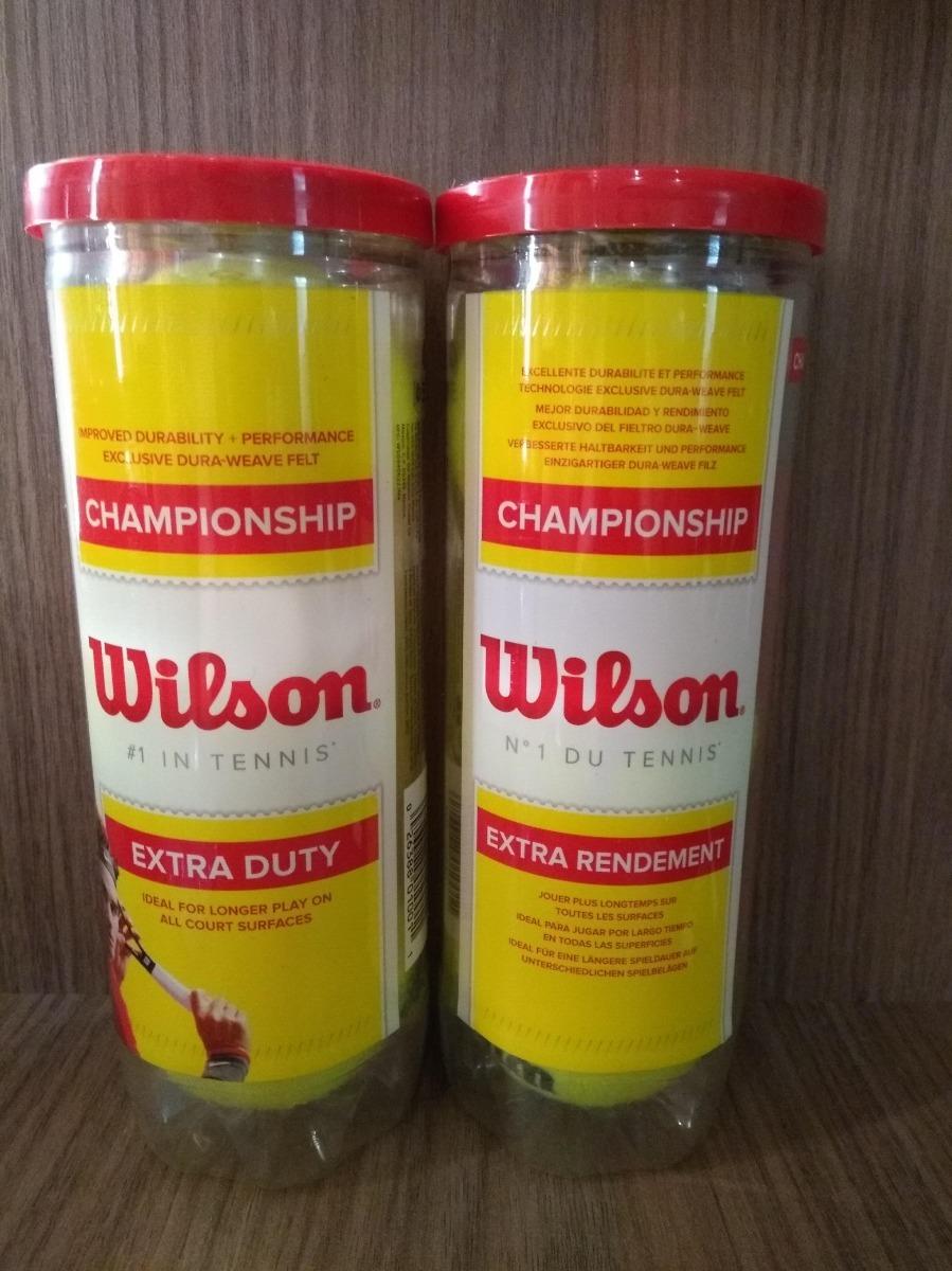 bcca28e16f Características. Marca Wilson  Linha Championship  Modelo Championship   Quantidade de bolas 6  Tipo de bola Bola de Tênis ...