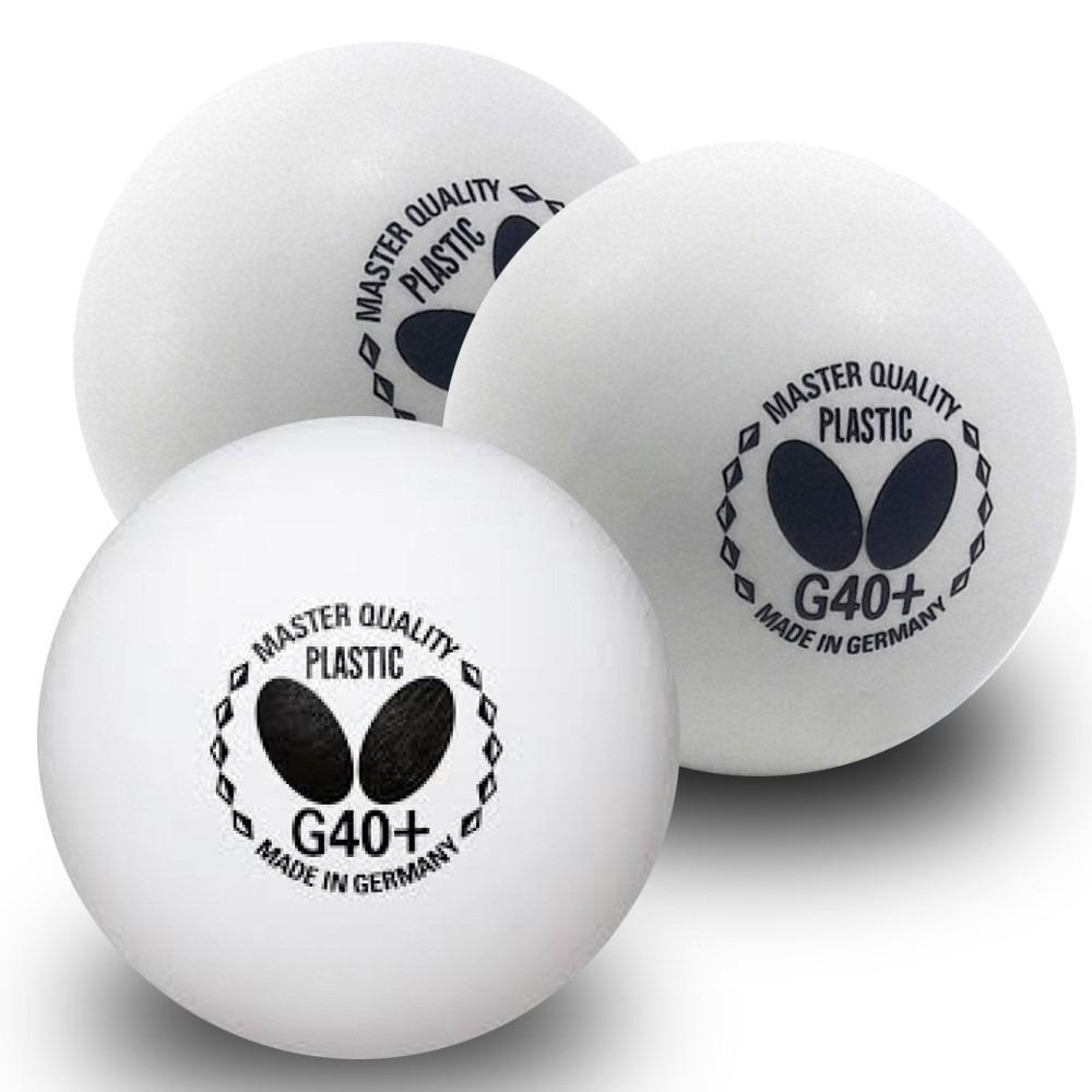 412c54865ce bola tênis de mesa butterfly plastico g40+ 1  3 bolinhas. Carregando zoom.