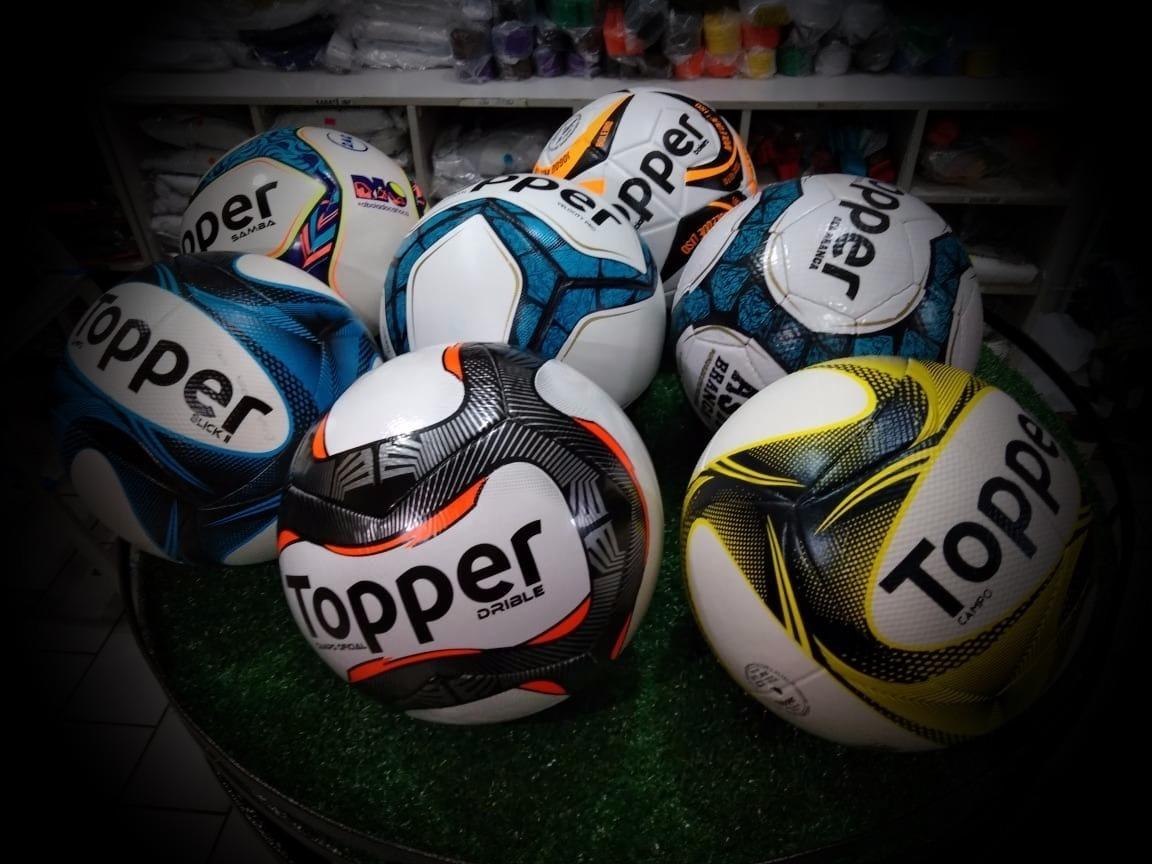 b9e4c39208 Bola Futsal Topper - Combo 4 Bolas Modelos Diversos - R  199