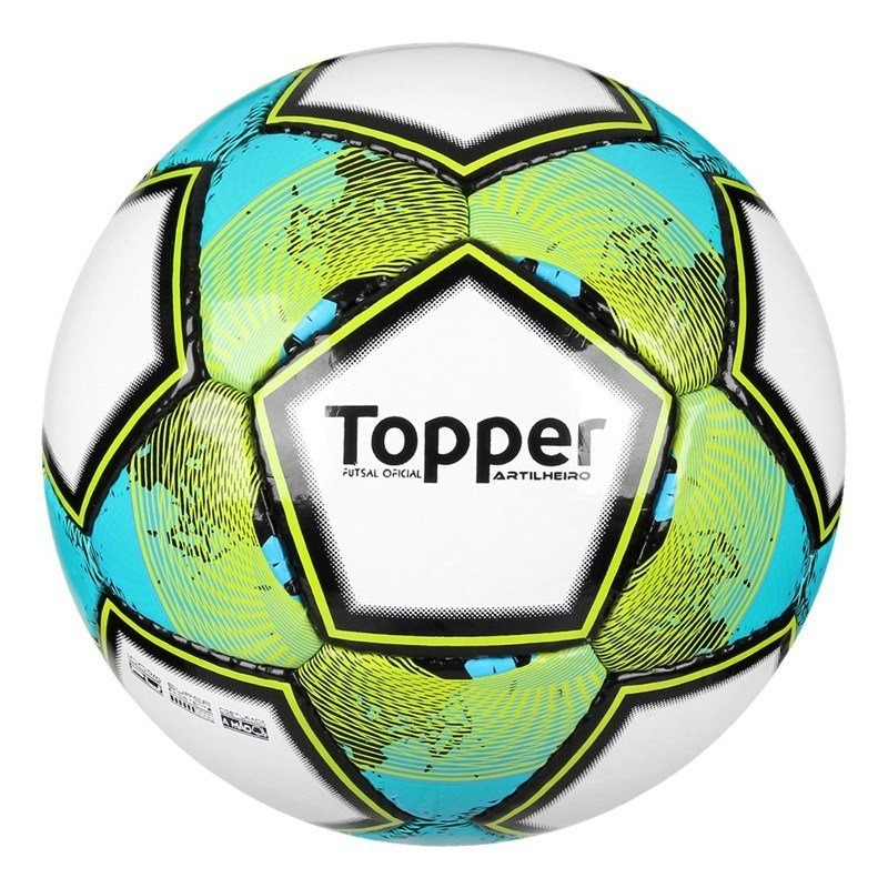 f57b9d037d12b bola topper futsal artilheiro - branco e verde. Carregando zoom.