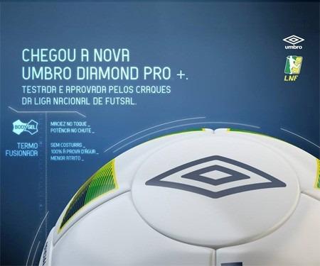 d00a8950bf33c Bola Umbro Futsal Diamond Pro + A Bola Da Liga Nacional ! - R  200 ...