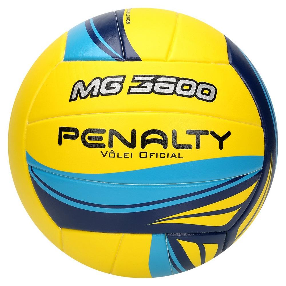 ebde72d8103fa bola volei mg 3600 penalty amarelo azul fusion 520314. Carregando zoom.