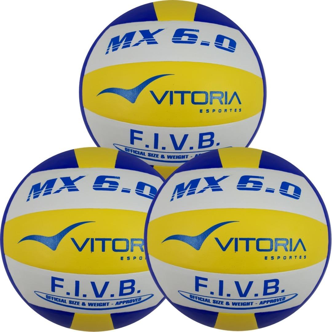 Bola Volei Oficial Vitoria 6.0 Pu - Leve 3 Unidades - R  169 875ccd7c563de