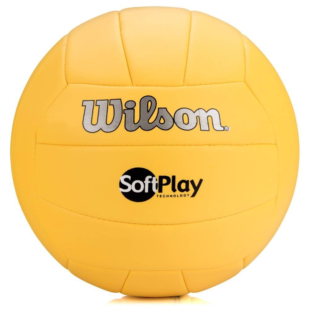 a8ed9a07b Bola Volei Wilson Soft Play Amarela - Oficial - R  64