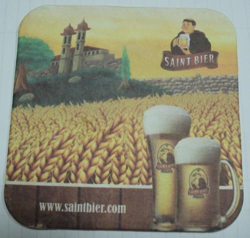 bolacha de chopp saint bier - o sabor do puro malte - a6