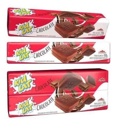 bolacha recheada caixa kidlat chocolate 150g 25 unidades