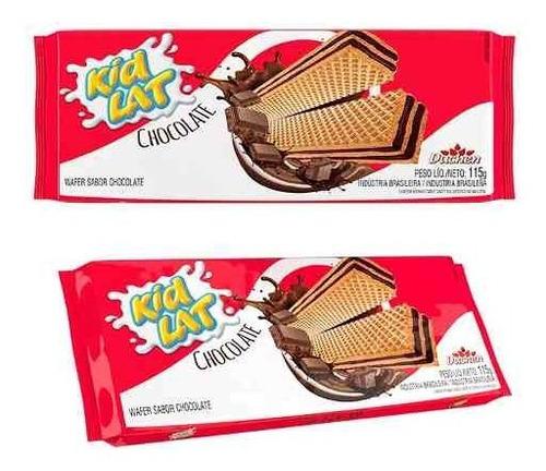 bolacha wafer chocolate atacado kidlat caixa com 30 pacotes