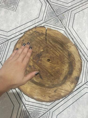 bolachão madeira tronco rústico