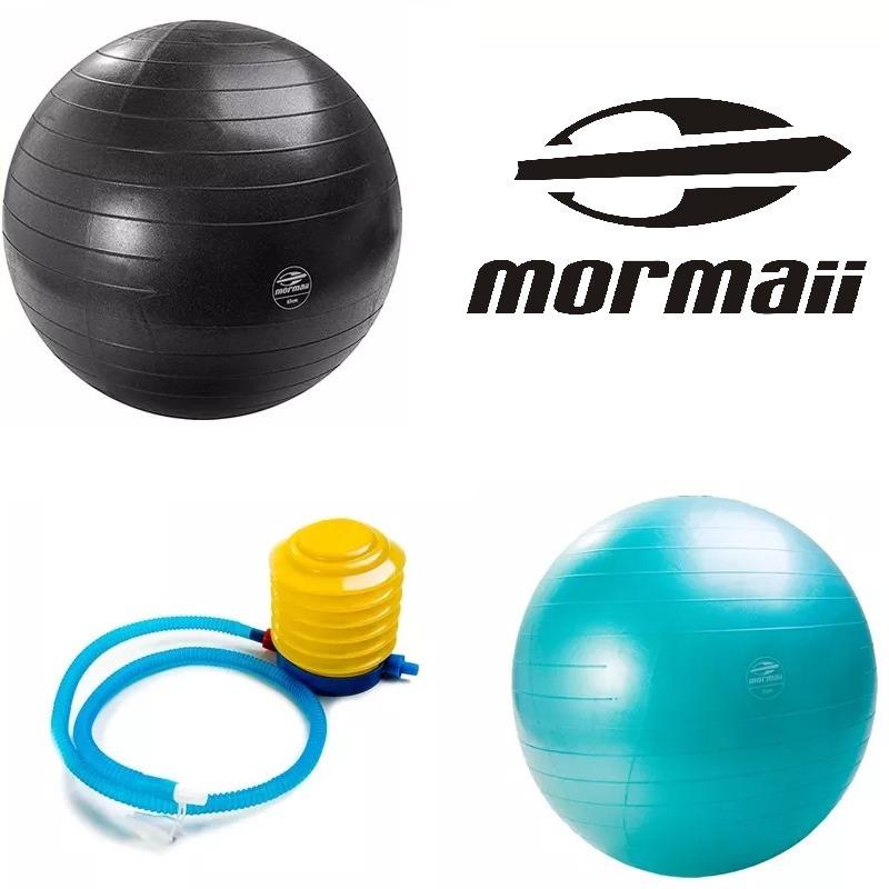 e488fa89ae187 Bolas 55cm 75cm Suíça Gym Pilates Yoga Bomba Ar Fit Mormaii - R  94 ...