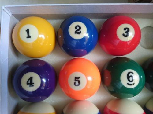 bolas billar clásicas kit completo set juego bolas x 16 und