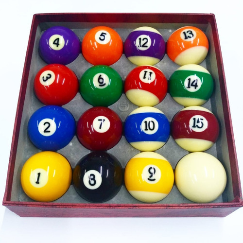 bolas de billar caja roja
