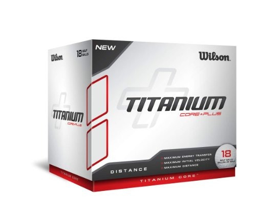 bolas de distancia,bola de titanio wilson (paquete de 18..