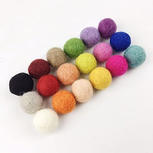 bolas de fieltro bolas 200 piezas de fieltro de lana bola 20