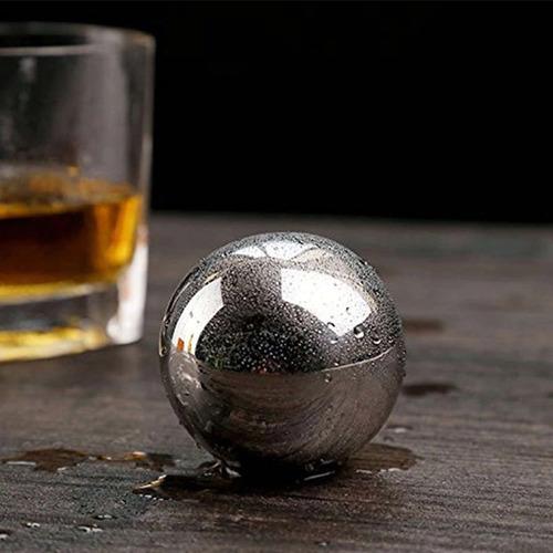 bolas de hielo de metal para whisky bebidas frío