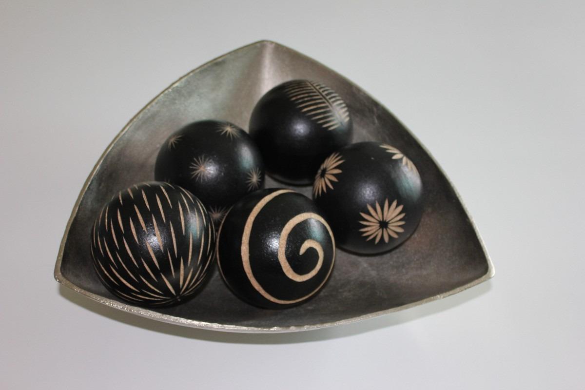 Bolas De Madera Decorativas 5pzas 200 00 En Mercado Libre ~ Bolas Para Decorar Centros De Mesa