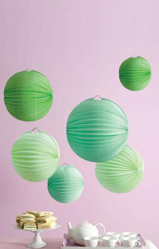 bolas de papel tipo acordeón premium