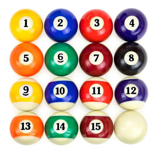 bolas de pool 2 1/4  new oficial tamaño normal