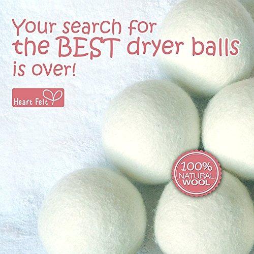 bolas de secador de lana con fieltro de corazón 6 paquete x