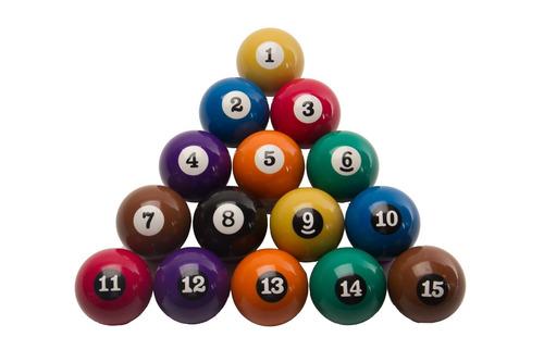 bolas numeradas 50mm/ bilhar/ sinuca/ snooker/ pebolim/ totó