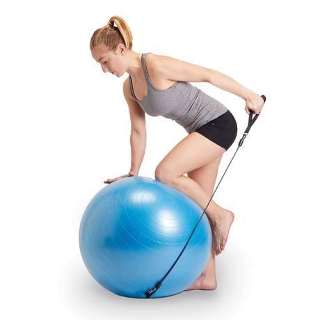 Bolas 55cm 75cm Suíça Gym Pilates Yoga Bomba Ar Fit Mormaii - R  94 ... f0f7915314aa4