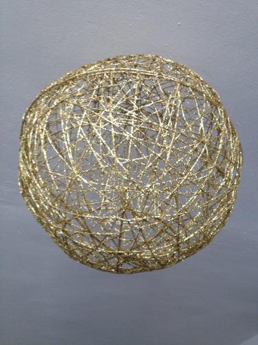 bolas tejidas doradas decorativas grandes