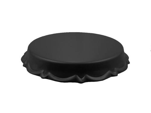 boleira em cerâmica suporte bolo doces pequena 24x13cm preta