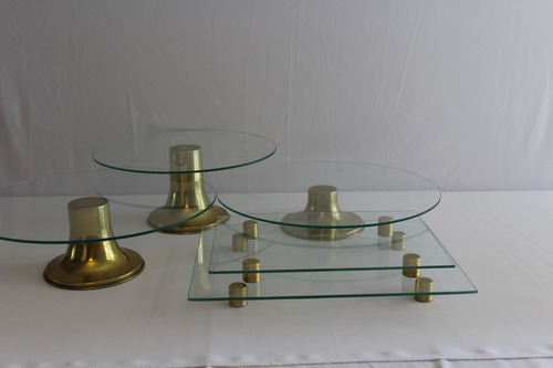 boleiras vidro dourada bandejas porta doce salgado prato