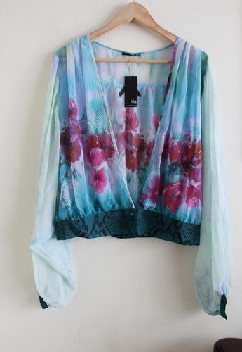 bolero caftan tapado tfnc londres gasa kimono floral m/l