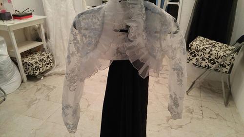 bolero para vestido de novia en encaje ivory
