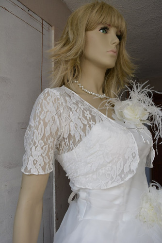 Como hacer una torera para vestido de novia
