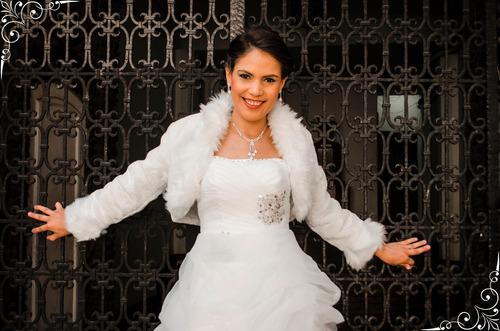 boleros novia piel color ivory talla standar