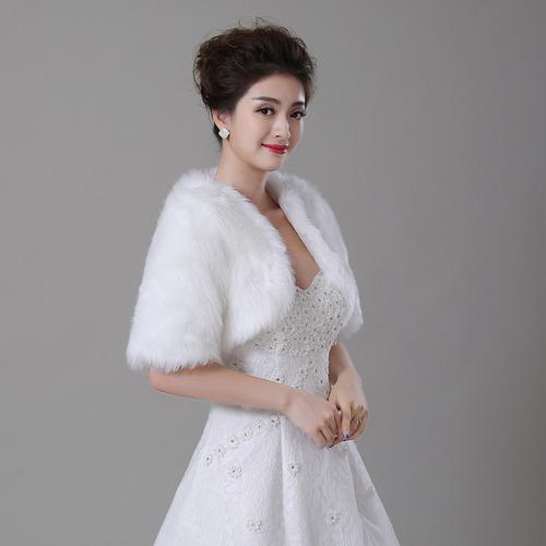 boleros novia piel manga corta ivory y blanco